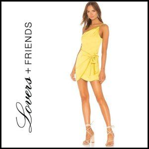 NWT LOVERS + FRIENDS Karen Mini Chartreuse Dress S
